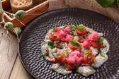 Peruvian fresh seafood ceviche