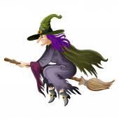 Halloween boszorkány illusztrációja