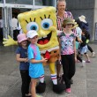 Постер, плакат: Australian tennis fans taken pictures with SpongeBob SquarePants during Australian Open 2016 at Australian tennis center