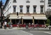 Busy diner restaurant in Soho in New York City
