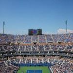 Постер, плакат: Arthur Ashe Stadium during US Open men semifinal match between Novak Djokovic and Kei Nishikori