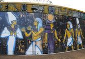 San diego, california - 28 settembre: arte murale presso Parco del balboa a san diego su 28 settembre 2014