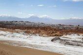 Moon Valley nebo Valle de la Luna krajina v poušti Atacama