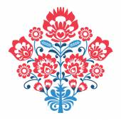 Decorative traditional vector retro pattern in red and blue