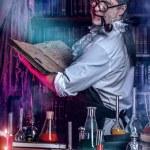 Постер, плакат: Inventor The old man medieval scientist
