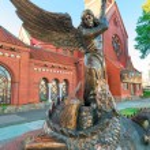Постер, плакат: Bronze sculpture the Archangel Michael