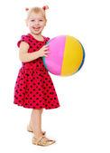 Lány labdával