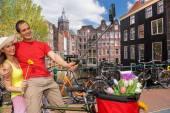 Selfie ellen csatorna Amszterdamban, Hollandiában