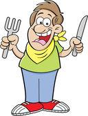 Kreslený Hladovec