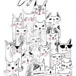 Постер, плакат: Set different cats