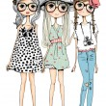 Постер, плакат: Beautiful fashion girls