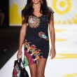 Постер, плакат: Adriana Lima walks the runway at Desigual during Mercedes Benz Fashion Week Spring 2015