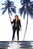 Designer Nicole Miller walks the runway at Nicole Miller during MBFW