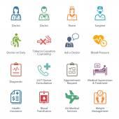 Barevný Medical  zdravotní péči ikony Set 2 - služby