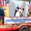 Постер, плакат: Veterans Parade Float Honors 70th Anniversary Of World War II