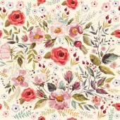Ruky nakreslené květinový věnec