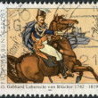 Постер, плакат: Postage stamp printed in Germany shows a Commander of Prussian Army Gebhard Leberecht von Bluecher