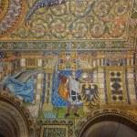 Постер, плакат: Mosaic on the ceiling of Kaiser Wilhelm Memorial Church Partially restored interior Berlin