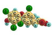 Thyroxin-Molekül isoliert auf weiss
