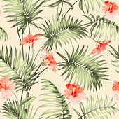 Seamless pattern branch of a palm tree Vector illustration