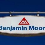 Постер, плакат: Benjamin Moore Paint Store Logo and Sign