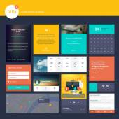 Flat design elements for web design and app development