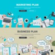 Постер, плакат: Set of flat design illustration concepts for business plan and marketing plan