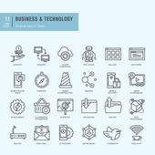 Thin line vector icons set
