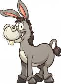 Cartoon donkey Vector clip art illustration with simple gradients All in a single layer