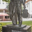 Постер, плакат: Monument to singer and poet Vladimir Vysotsky