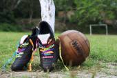 Good Luck Soccer Football Boots Brazilian Wish Ribbons Pitch