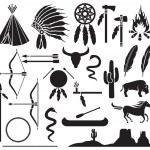 Постер, плакат: American indians icons