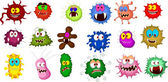 Vector illustration of Cartoon bacteria collection set for you design