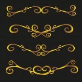 Sada vintage dekorativní ornamenty vektorové ilustrace