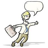 Cartoon rushing businessman