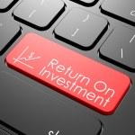 Постер, плакат: Return on investment keyboard