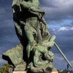Постер, плакат: Statue depicting Valor on the Battlefield in Turin Italy