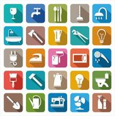 Colored icons of consumer goods