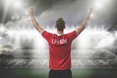 Sportovec v Kanadě uniformě