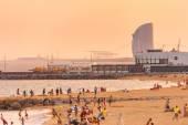 Barceloneta-Somorro stro Beach in Barcelona