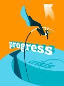 Překonání krize. Pokrok. Skok o tyči