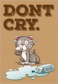 Do not cy over spilt milk idiom illustration