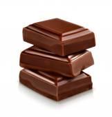 Chocolate pieces vector illustration