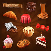 Sweet Confectionery vector set