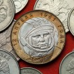 Постер, плакат: Coins of Russia Yuri Gagarin