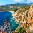 Постер, плакат: Impressive landscapes of Corsica red rocks Calanques