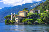 Romantischer Lago di Como - Villa del Balbinello. Italien