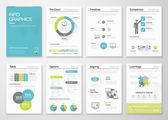 Fresh infographics vector concept Business graphics brochures
