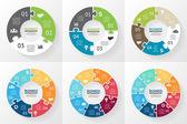 Infographic kruh. Diagram, graf, prezentace