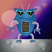 Clip art illustration of robot